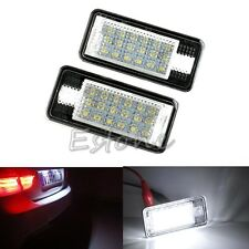 Error Free LED License Plate Light Lamp CAN-bus For Audi A3 A4 A6 S6 A8 Q7 White