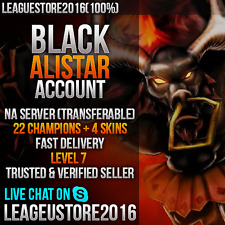 League of Legends Account NA EUW EUNE Black Alistar Level 7 Unranked Smurf