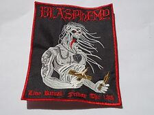 BLASPHEMY LIVE RITUAL EMBROIDERED PATCH