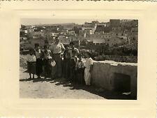 PHOTO ANCIENNE - VINTAGE SNAPSHOT - ENFANT MOSTAGANEM ALGÉRIE LA CASBAH 1951