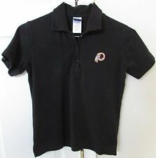 NFL Washington Redskins Black Golf Polo Shirt Youth Small by Reebok