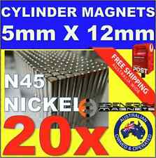 20X Cylinder ROD Neo Rare Earth Magnets 5mm X 12mm N45