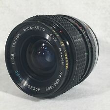 Access P-MC f2.8 28mm Wide-Auto Macro Lens P/K Pentax K Mount Very Nice