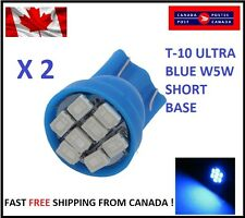2X Blue Xenon LED T10 8SMD/5050/194Bulbs Light 68 W5W license Plate Short Base