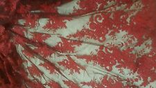 High Quality Beautiful Deep Red French Bridal Lace Fabric 1 yard.  Double Shaded