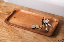 Handmade Wooden Coin Key Pen Jewellery Tray Trinket Bathroom Decoration Men Gift