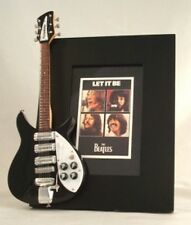 BEATLES  Miniature Guitar Frame LET IT BE