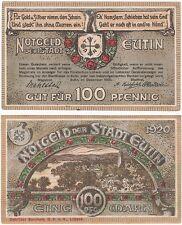 Germany 100 Pfennig 1920 Notgeld Eutin AU-UNC Banknote