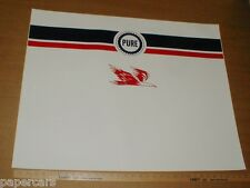 Pure Oil Company New Gasoline Pump Wrap gas station decal sticker 26x33 NOS rare