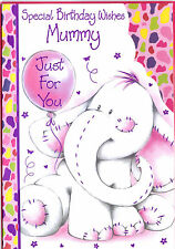 Special Birthday Wishes Mummy Just For You Card. Cuddly Elephant.