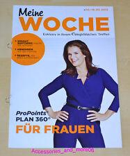 Weight Watchers Meine Woche 10.03. - 16.03.2013 Für Frauen ProPoints™ Plan 360°