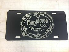 Antique Style 2 Ford Car Tag Diamond Etched on Aluminum License Plate