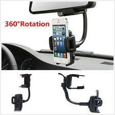 Universal 360° Car Rearview Mirror Cell Phone Bracket Holder Mount For All Phone