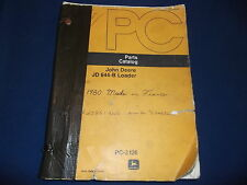 JOHN DEERE JD 644-B LOADER PARTS CATALOG BOOK MANUAL PC-3126