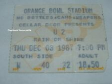 U2 Concert Ticket Stub MIAMI ORANGE BOWL DEC 3rd 1987 Joshua Tree RARE Bono
