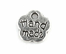 Retro Style 50 Pcs Tibetan Silver HAND MADE Flowers Art Charms Pendants TA320