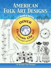 American Folk Art Designs CD-ROM and Book (Electronic Clip Art)