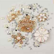 deco den kit  diy cellphone case crown flower crystal rhinestone flatback