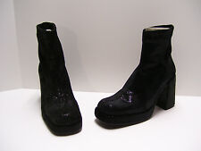 Avant Garde Womens Shoes Sz 6.5 M US 36.5 EUR Black Boots Heels Casual Dress