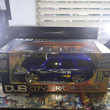 LARGE Jada scale 1:12 4.9 mhz RC car cadillac escalade DUB CITY ROLLERS