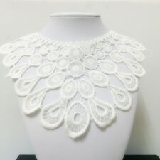New Lace Embroidered Floral Neckline Neck Collar Trim Clothes Sewing Applique 72