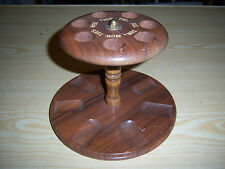 Decatur Industries Vintage Wood 7 Pipe Stand Holder Rack Days of the Week Stand