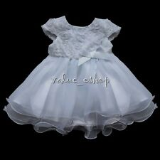 Flower Girl Bow Dress Wedding Bridesmaid Baby Birthday dress Graduation Princess
