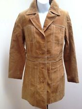 Wilsons S Brown Trench Coat Suede Leather