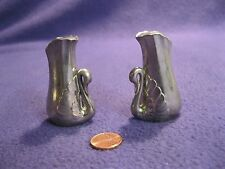 Silver Plated Zinc Figural Swan Salt and Pepper Shakers Elegance              35