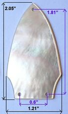 TR2# Truss Rod Cover in White Mother of Pearl 1.5mm thickness