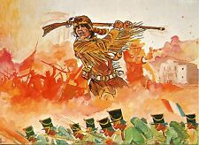 POSTCARD / CARTE POSTALE / ILLUSTRATEUR HUGO PRATT / DAVID CROCKETT A FORT ALAMO
