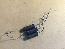 3 NOS Vintage Micamold Black Beauty Capacitors .001 uf 400v tone caps