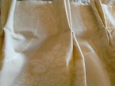 LAURA ASHLEY josette toile MADE TO MEASURE interlined CURTAINS made by L ashley