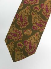 """Brown Paisley """"BYBLOS"""" VISCOSE TIE, MADE IN ITALY. 3.5"""" Wide 56"""" Long"""