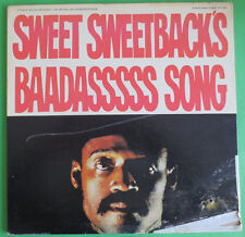 SWEET SWEETBACK'S BAADASSSSS SONG Original Press LP early EARTH WIND & FIRE