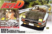 Aoshima 1/24 Model Car Kit Initial D Toyota Sprinter Trueno AE86 Project D Ver.