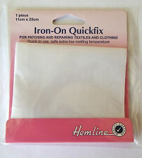 Iron on Quickfix mending patch 100% cotton white for repairing