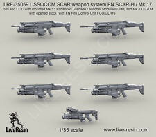Live Resin 1/35 LRE-35059 USSOCOM SCAR Weapon System FN SCAR-L/Mk.17 (Set 3)