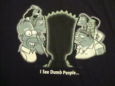 vintage 2001 the Simpsons bart homer simpson I see  dumb people T Shirt  L