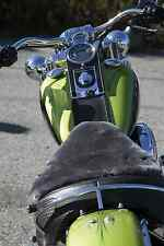 """Charcoal Large Buttpad - Sheepskin Motorcycle Seat Cover 18"""" x 18"""""""