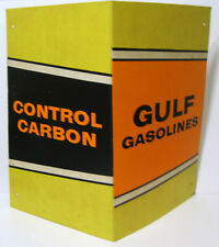 GULF Gasolines Control Carbon Vintage Fold Out Advertising Paper Board Display