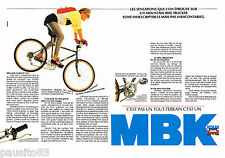 PUBLICITE ADVERTISING 065  1987  MBK  vélo MOUNTAIN BIKE TRACKER ( 2 pages)