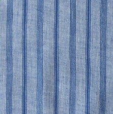 "100% Handmade Cotton Fabric. India Khadi. Blue.  34"" wide."