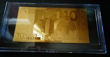 24 Kt Gold 10 Euro €-European Union Money 2002 -Gift Bill Comes In Acylic Holder