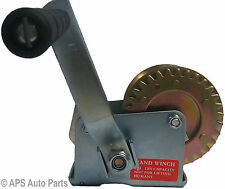 Manual Hand Winch 600lbs Boat Trailer Caravan without Cable Marine Puller