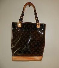 $1840.00 Authentic LOUIS VUITTON Monogram Vinyl Ambre Cabas MM Bucket Tote Bag
