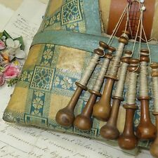 ANTIQUE FRENCH BOBBIN LACE MACHINE TATTING CROCHET HANDMADE VTG SEWING TAMBOUR