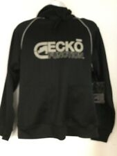 NWT ECKO FUNCTION BLACK HOODED SWEATSHIRT MENS SMALL