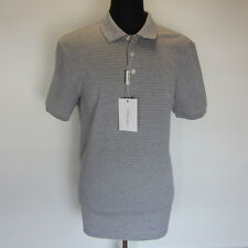L-3609980 New Salvatore Ferragamo Gray Short Sleeve Polo Shirt Size-XL