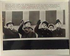 China Chou En Lai USSR Leonid Brezhnev Anastas Mikoyan  1964 vintage wirephoto